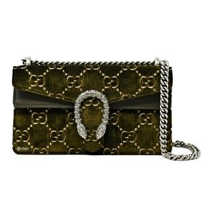 Gucci Small Dionysus GG Velvet And Leather Bag